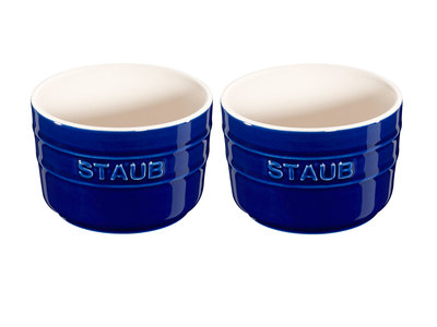 Photo of Staub Professional Cooking Ceramics Round Ramekin // Dark Blue // Set of 2 by Touch Of Modern
