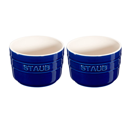 Round Ramekin // Dark Blue // Set of 2
