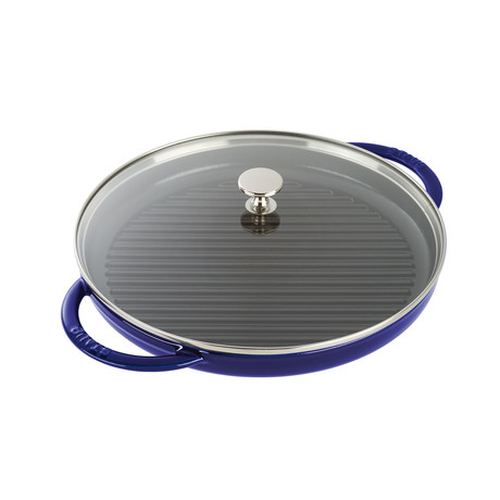 "Round Steam Grill // Dark Blue (10"" Grill)"