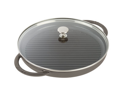 "Staub French Cast-Iron Cookware Round Steam Grill // Graphite Gray (10"" Grill)"
