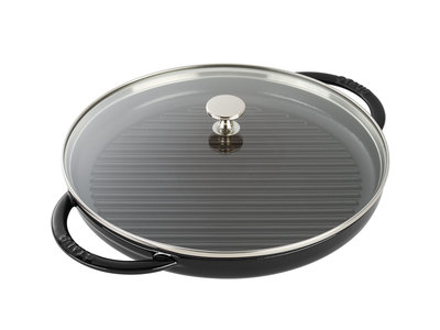 "Staub French Cast-Iron Cookware Round Steam Grill // Matte Black (10"" Grill)"