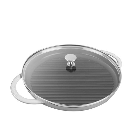 "Round Steam Grill // White (12"" Grill)"