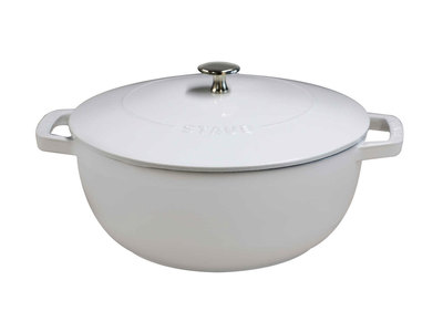 Staub French Cast-Iron Cookware Essential French Oven // White
