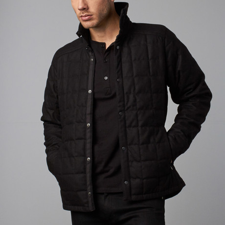 Wool Down Shirt Jacket // Caviar