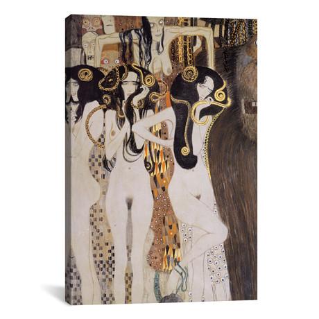 """Die Gorgonen und Typhoeus // Gustav Klimt (26""""W x 40""""H x 1.5""""D)"""