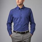 Woven Button Down Shirt // Blue (XS)