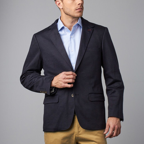 Solid Knit Sport Coat // Indigo (XS)