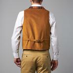 Plaid Vest // Rust (XS)
