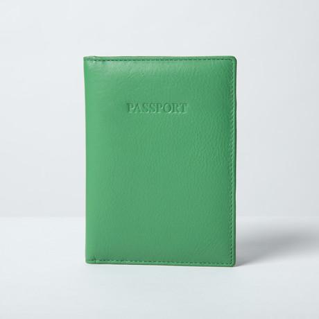 Soft Leather Passport Wallet // Green
