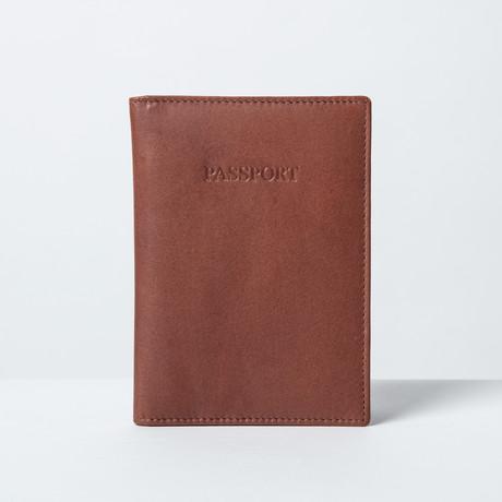 Soft Leather Passport Wallet // Brown!