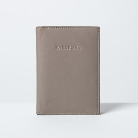Soft Leather Passport Wallet // Taupe