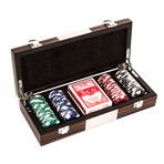 Brown Zebra 100-Piece Poker Set