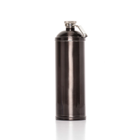Gunmetal Tube Flask