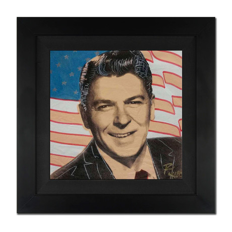Ronald Reagan And Flag II