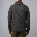 Loft 604 // Wool Shawl Collar Pullover // Charcoal (S)