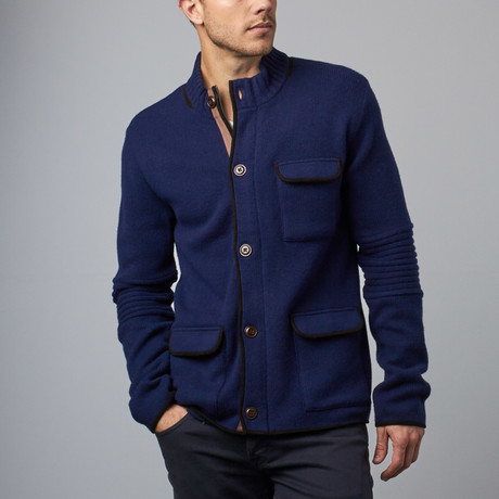 Cesarani // Wool Explorer Jacket // Navy (S)