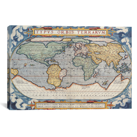 Antique Map of the World, 1570