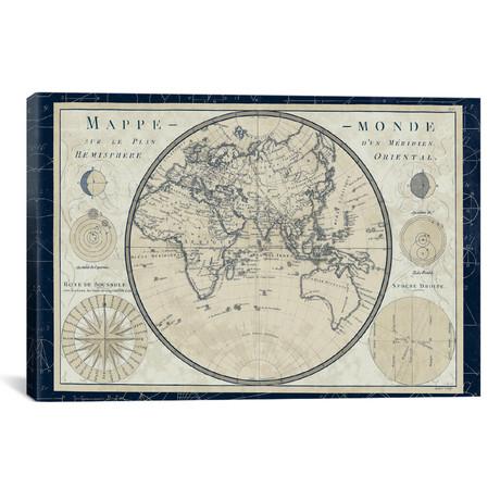 Mappe Monde Sur le Plan d`un Meridien