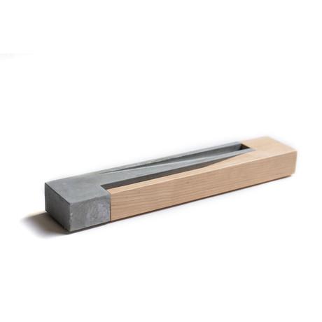 Incense Burner // Maple + Concrete