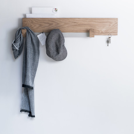 Long Wall Rack // White Oak