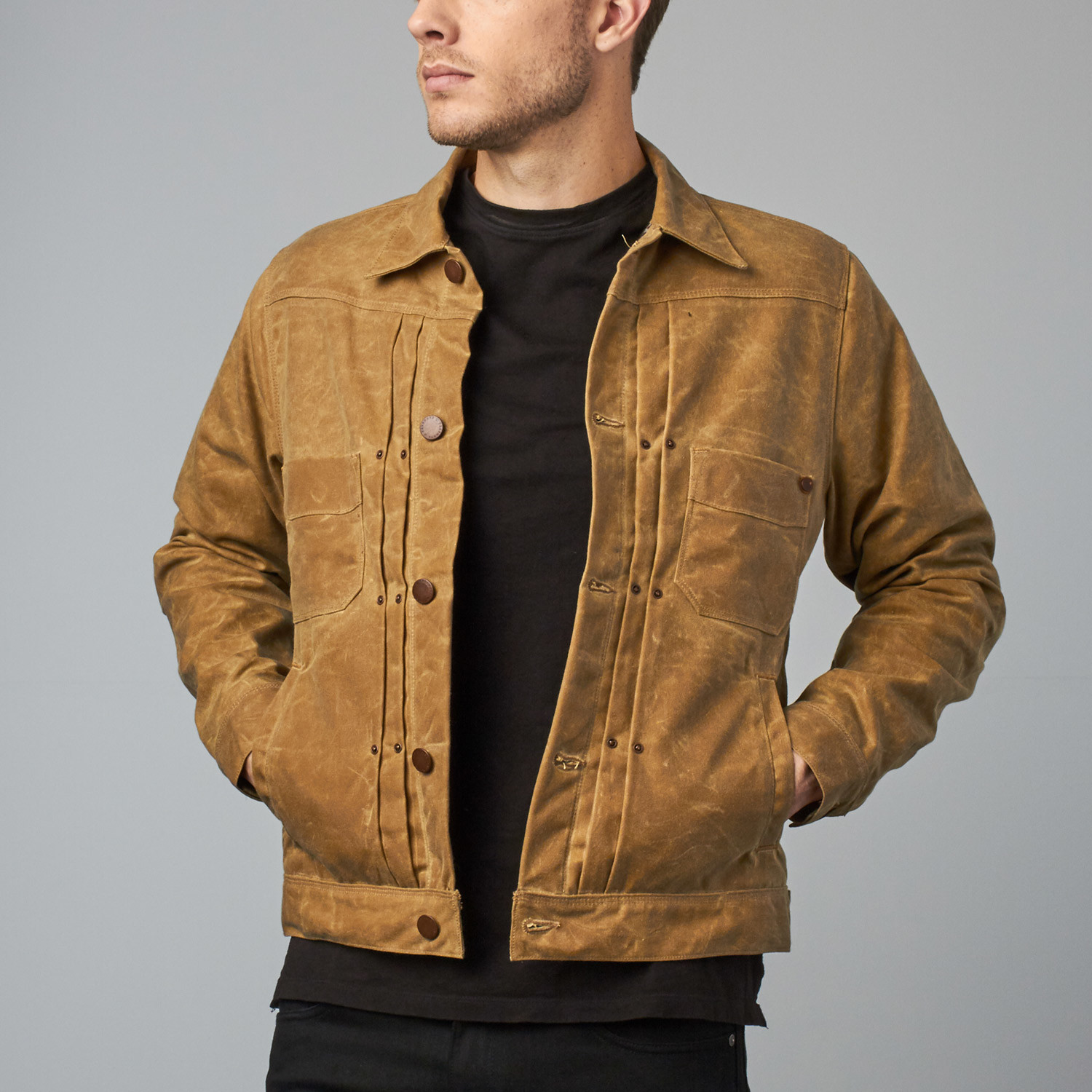 Riders Jacket Waxed Canvas Tobacco S Freenote