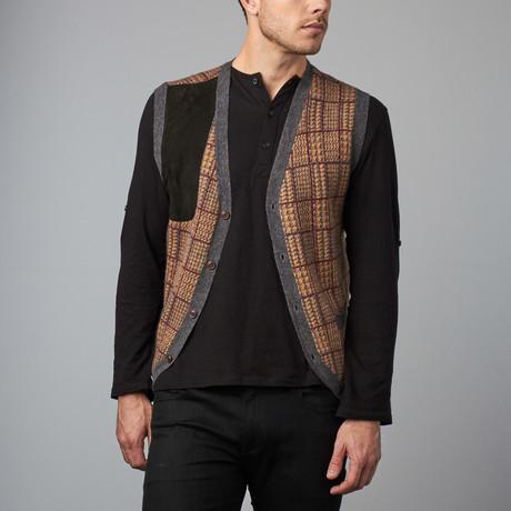 Cesarani // Cashmere Blend Plaid Waistcoat // Charcoal