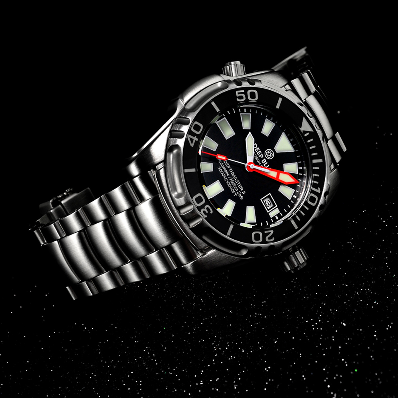Deep blue depth master diver automatic 3kblack deep - Dive deep blue ...
