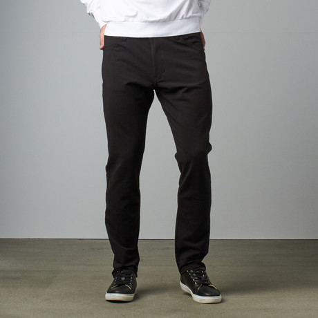 Knit 5 Pocket Pant // Black (28WX30L)