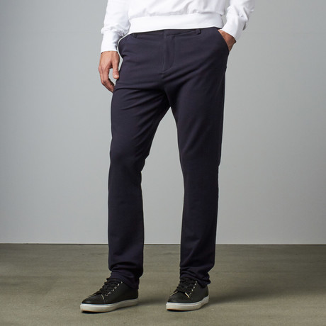 Knit Stretch Chino Pant // Navy (28WX30L)