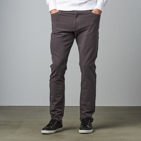 Knit 5 Pocket Pant // Grey (28WX30L)