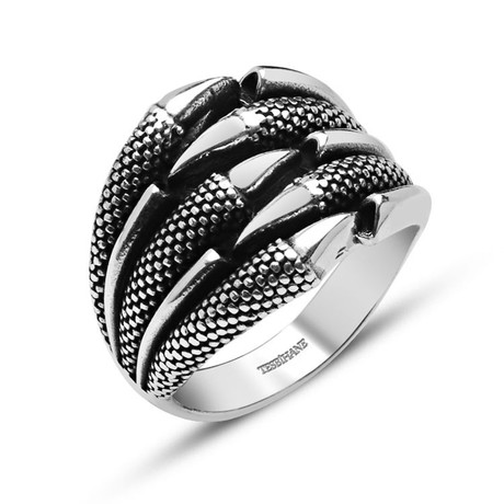 Eagle Claw Ring // Silver