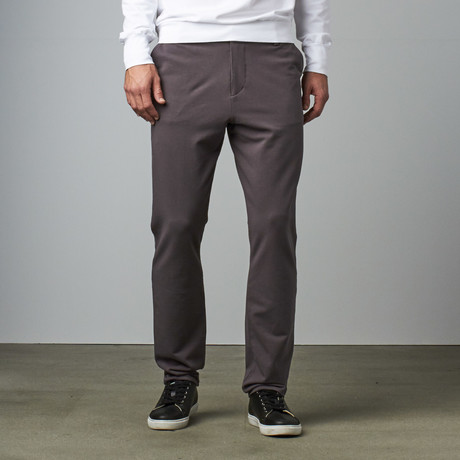Knit Stretch Chino Pant // Grey (28WX30L)