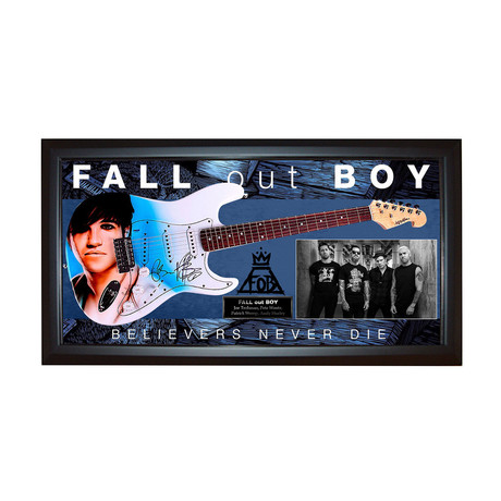 Fall Out Boy Signed Guitar + Display