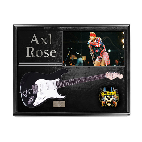 Guns N Roses Axl Rose Signed Guitar + Display