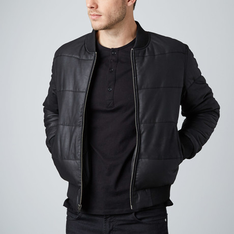 Cheltenham // Tween Leather Bomber // Black (L)