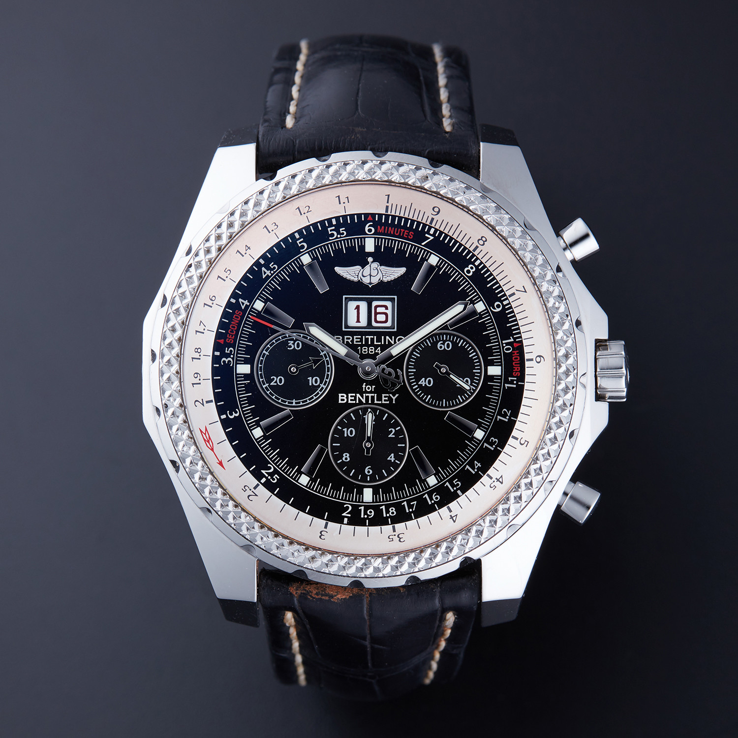 Breitling Bentley 6 75 Chronograph Automatic A44362 Pre Owned Influential Timepieces Touch Of Modern
