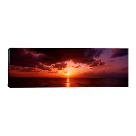 "Sunrise Miami FL USA // Panoramic Images Canvas Print (36""W x 12""H x 0.75""D)"