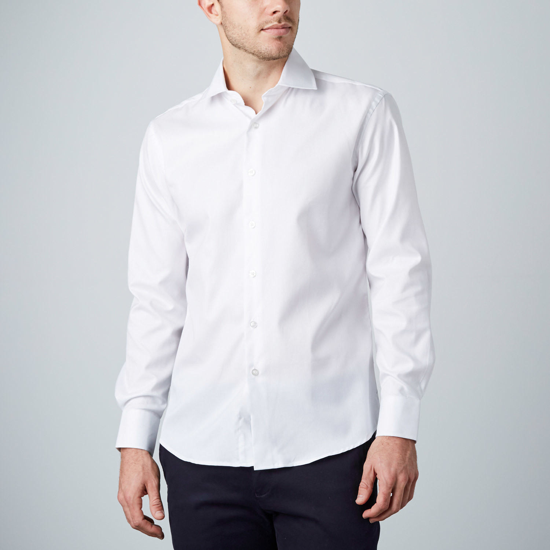 weave dress shirt white us 15r modern fit shirts