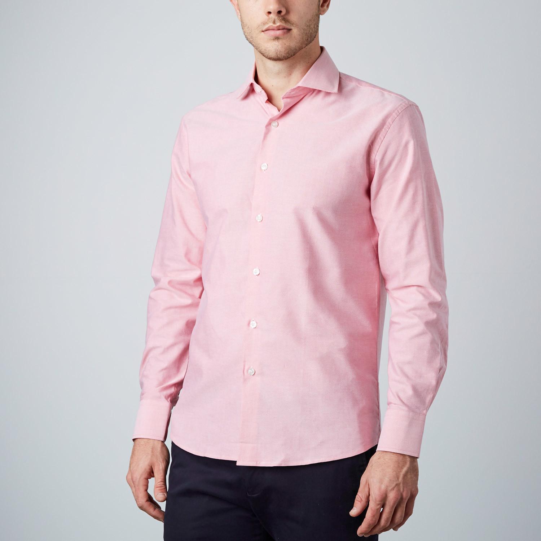 Fade dress shirt pink us 15r modern fit shirts for Modern fit dress shirt