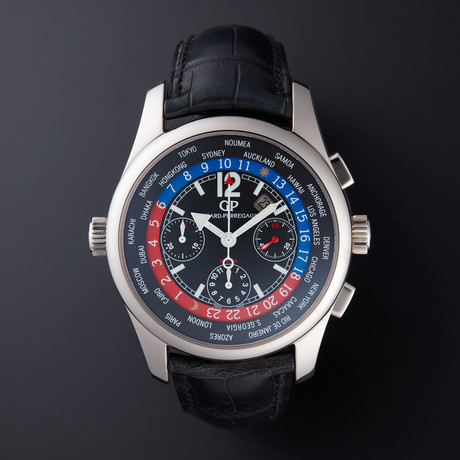 Girard Perregaux World Time Chronograph Automatic // 4980 // Store Display