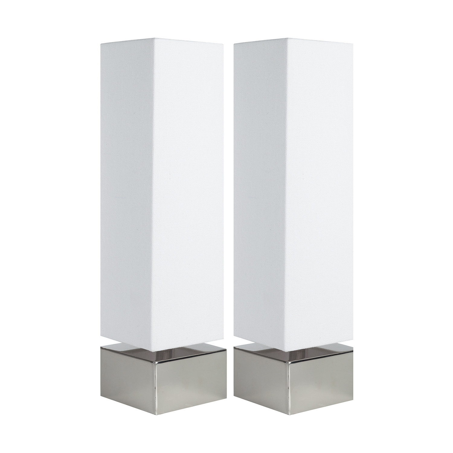 Incroyable Modern Square Table Lamp // White // Set Of 2