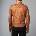 Hamilton Lamb Leather Biker Jacket // Tan (Euro: 46)