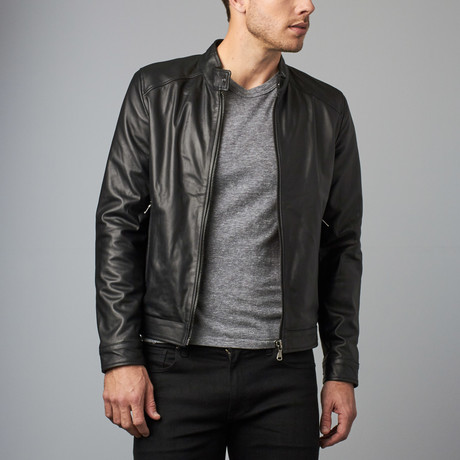 Ted Lamb Leather Biker Jacket // Black (Euro: 44)