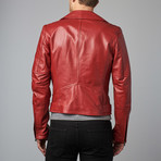 Chiodo Leather Biker Jacket // Red (Euro: 46)