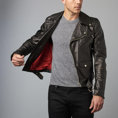 Chiodo Leather Biker Jacket // Black