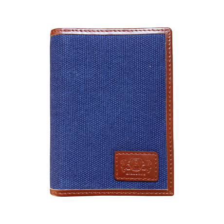 Canvas + Leather Front Pocket RFID Wallet (Gray)