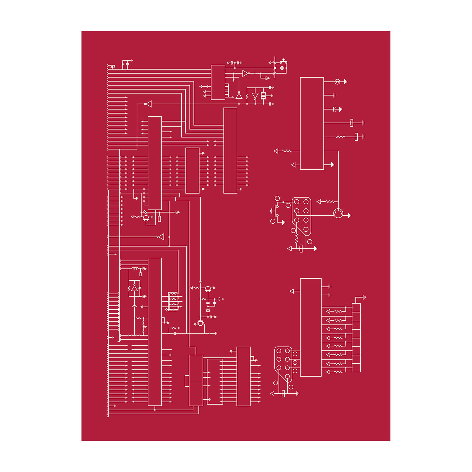 Nintendo (Unframed) - Computer Schematic Prints - Touch of ... on