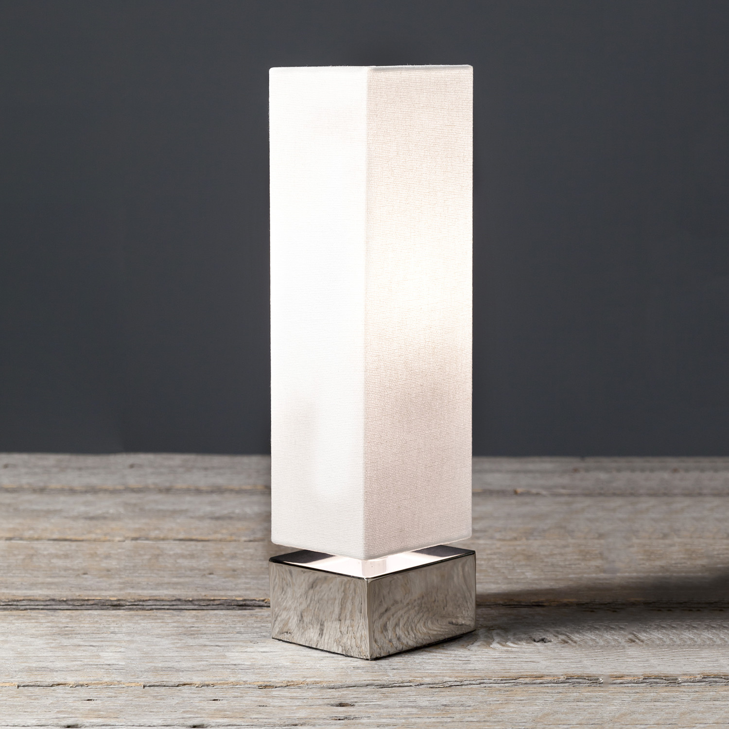 Delicieux Modern Square Table Lamp // White // Set Of 2