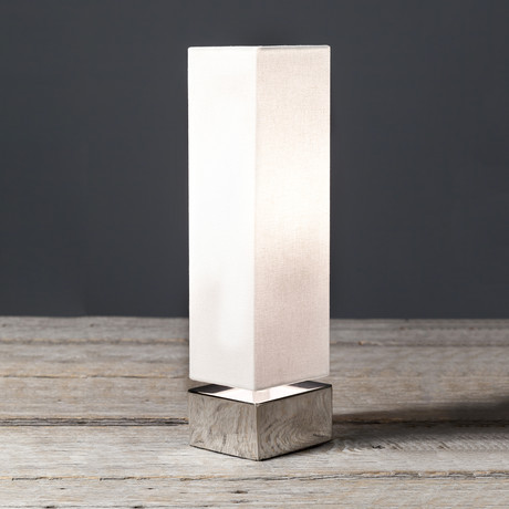 Modern Square Table Lamp White Set Of 2 Filament