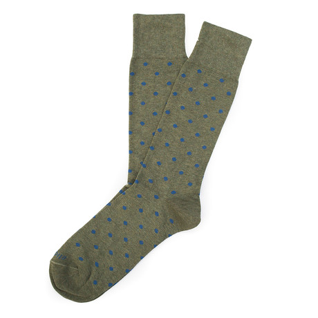 Mini Polka Sock // Navy + Vintage Green // Pack of 2